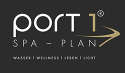 Port 1 Hamburg Logo auf Schwarz