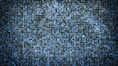 Modern luxury bathroom blue interior