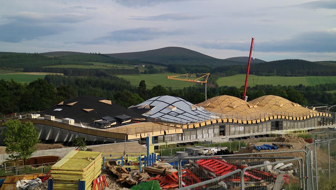 Macallan Distillery, Schottland. Work in progress. Fotos: © WIEHAG Gmbh, timberconstruction.wiehag.com