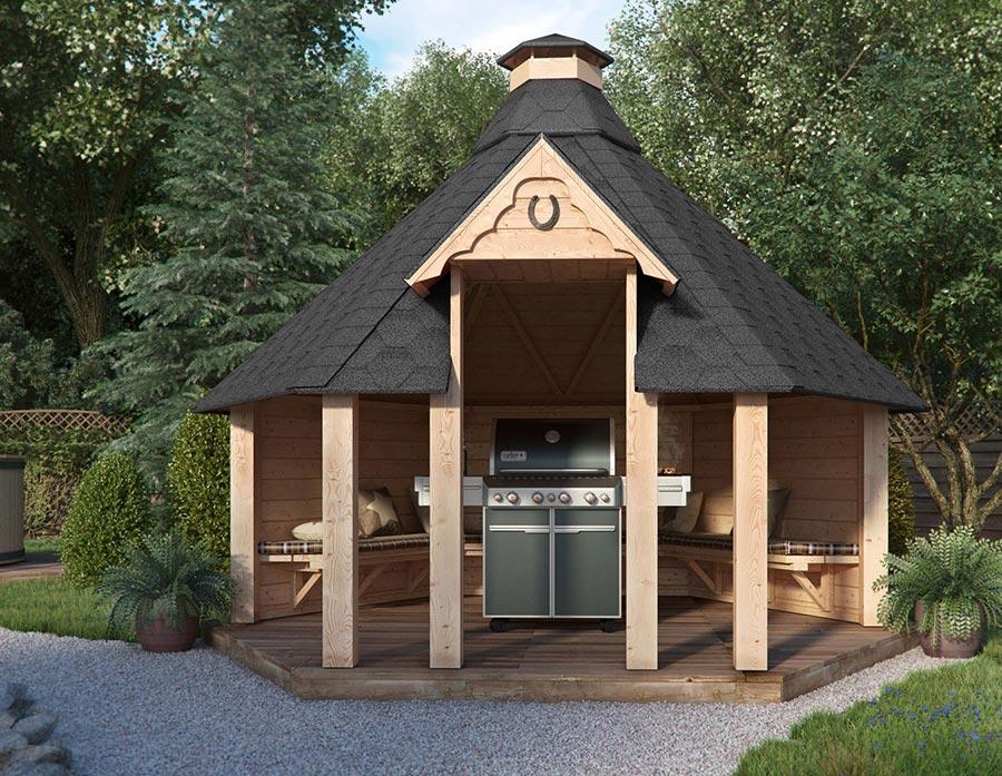 Grill-Pavillon: Grillspaß bei jedem Wetter - wie hier von Isidor