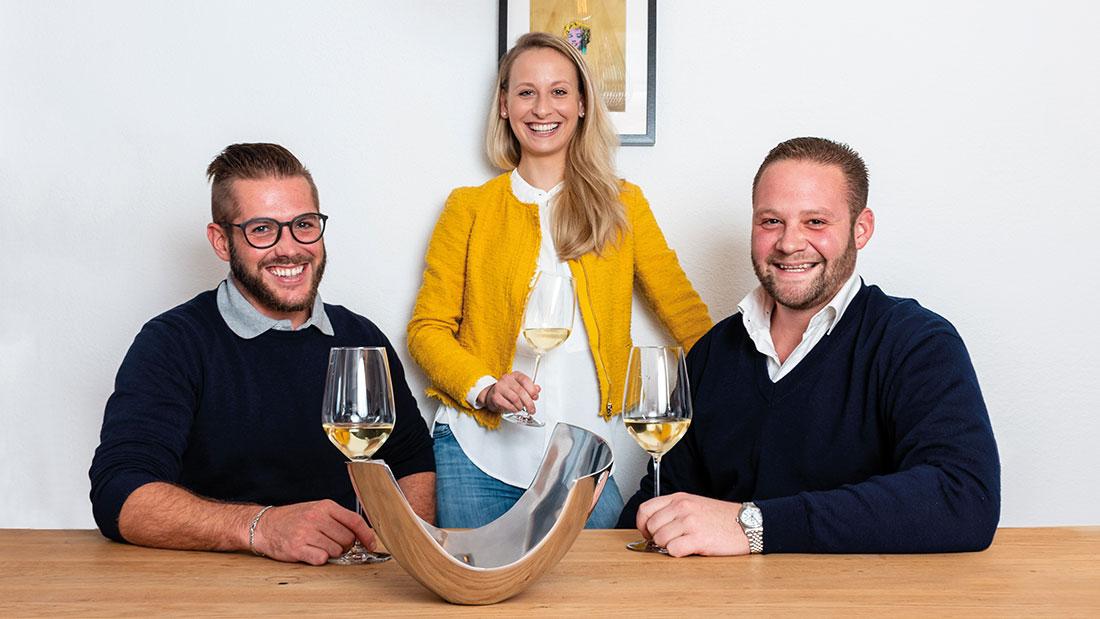 Ihre Gastgeber im Restaurant Sonneck in Ellmau am Wilden Kaiser: Hannes, Birgit und Florian