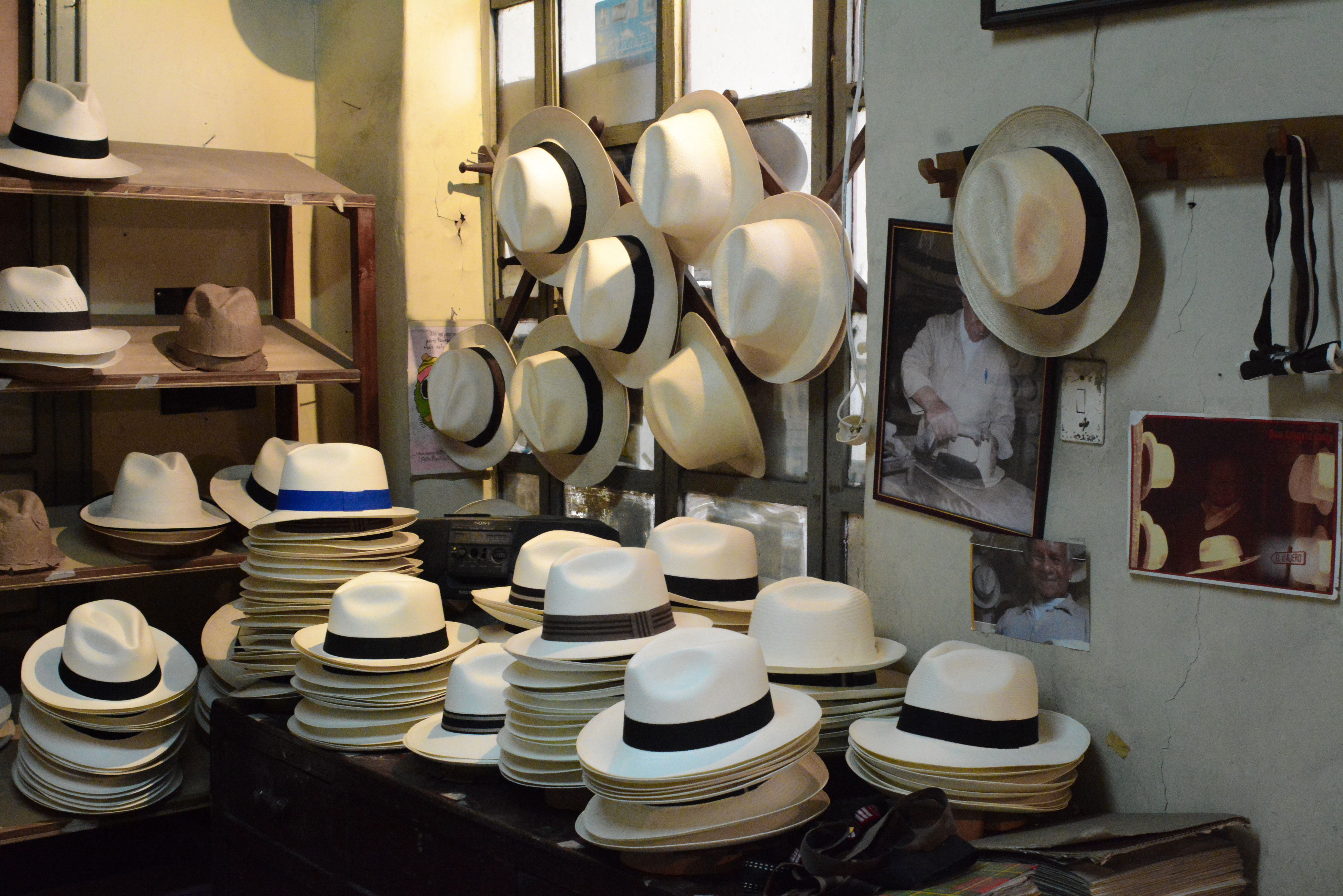 Panamahut-Manufaktur in Ecuador