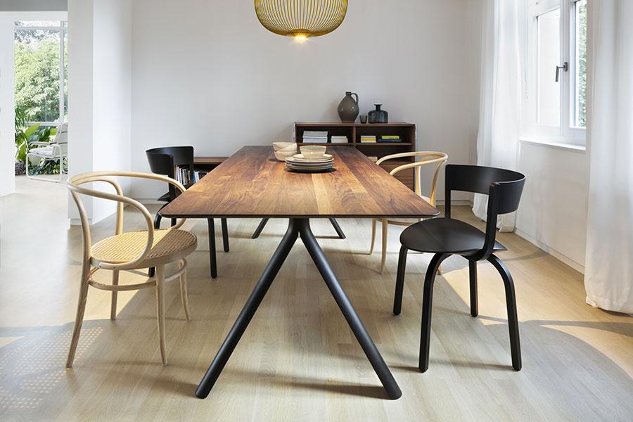 Thonet-Stühle sind vielseitig und beliebig kombinierbar