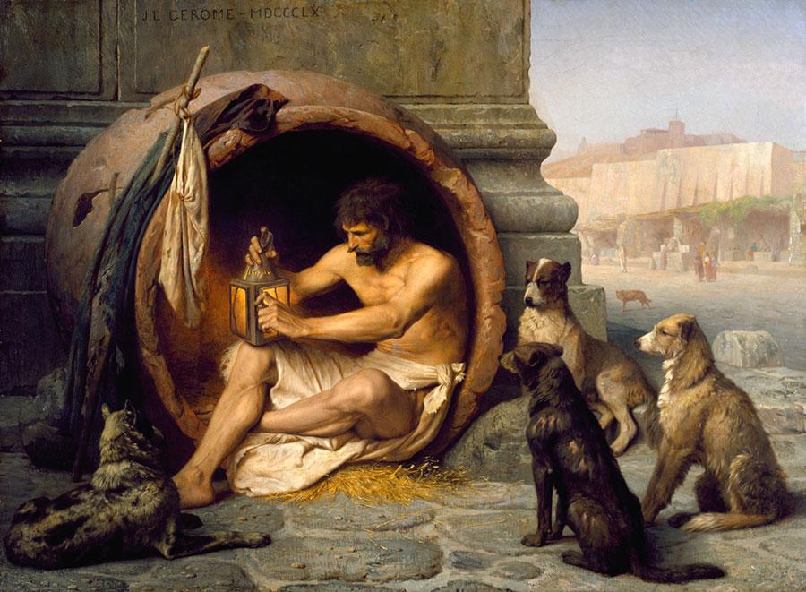 Diogenes, der Philosph in Tonne machte es vor: Leben im Minihaus