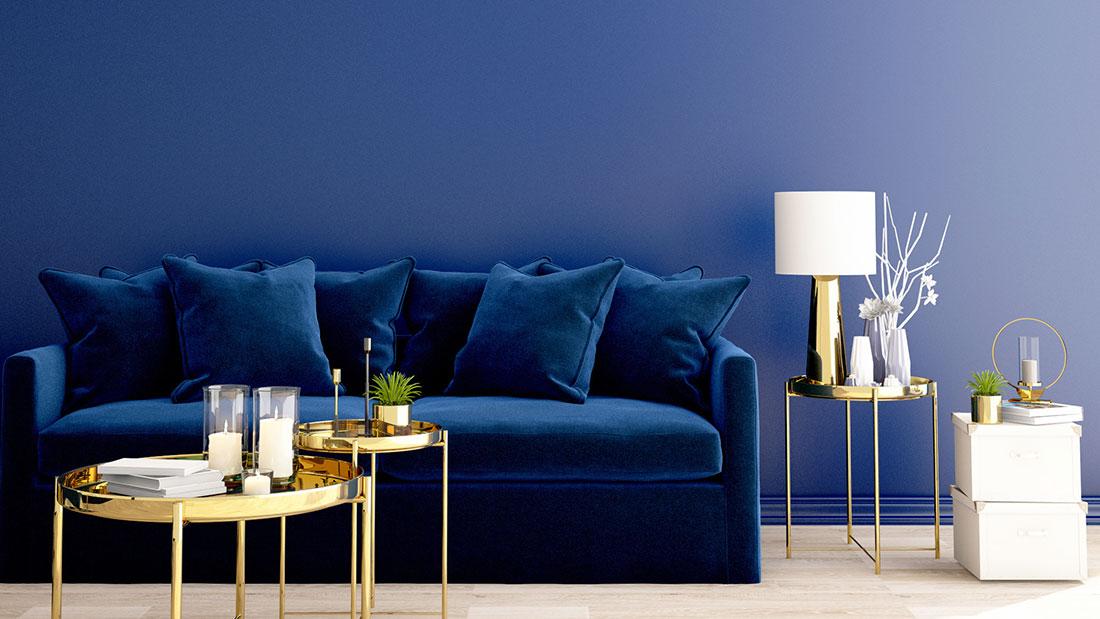 So stilvoll ist die Trendfarbe Blau