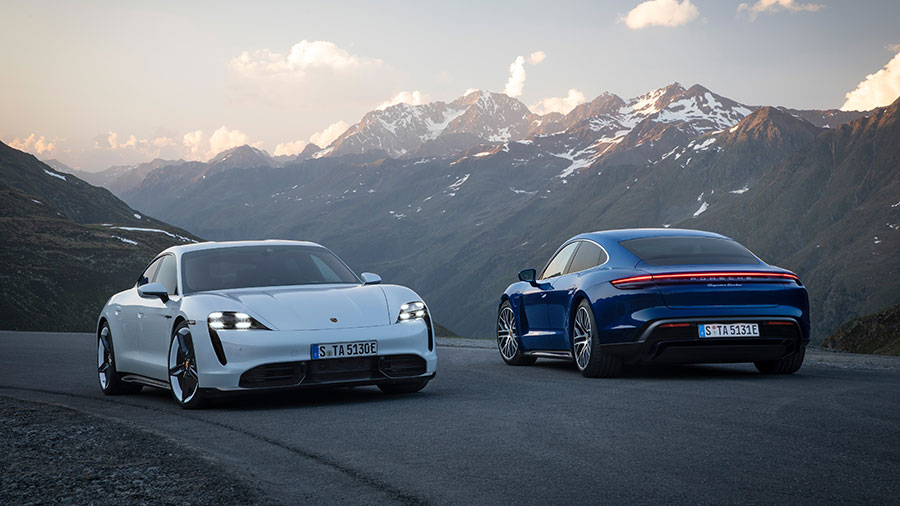 Porsche Taycan Turbo S: Speerspitze der Porsche E-Performance mit neuen Maßstäben bei Nachhaltigkeit, Performance und Effizienz. © 2020 Dr. Ing. h.c. F. Porsche AG