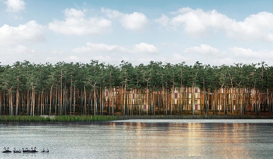 Entwurf des Lake Resort Bad Saarow (DE 2017), © Matteo Thun Milano