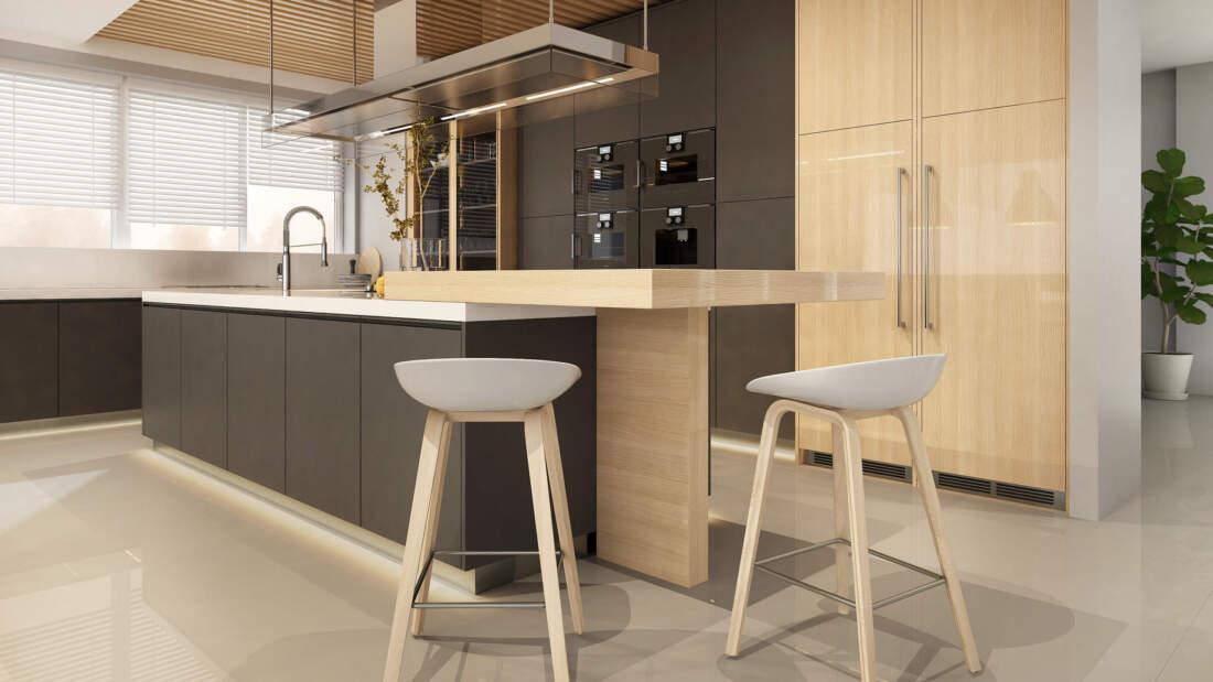 Eco-Design liegt im Trend: Küche mit hellen Holzelementen
