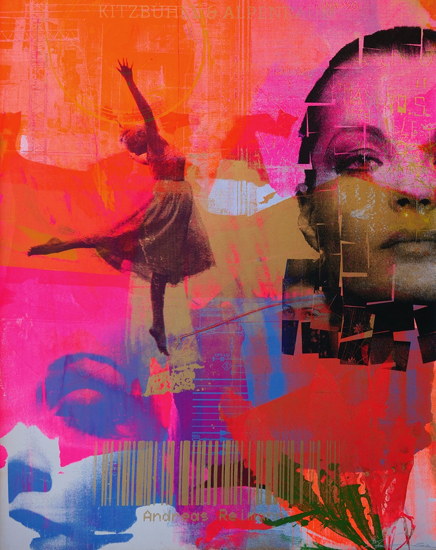 Romy Schneider ist eines seiner bekanntesten Motive: Andreas Reimann Pop-Art