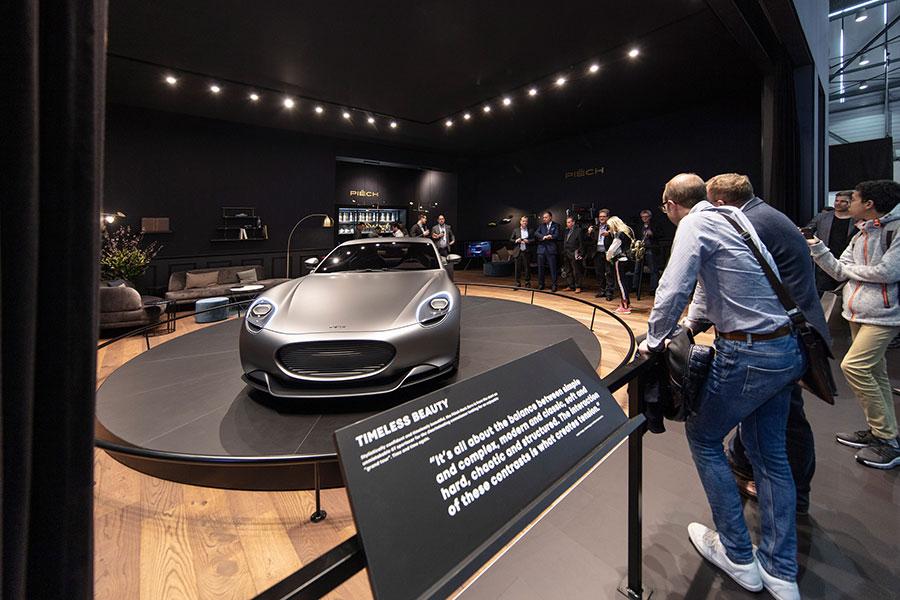 """Zeitlose Schönheit: Die Sportwagen-Konzeptstudie """"Mark Zero"""" von Piëch Automotive sorgte bereits auf dem Genfer Autosalon 2019 für Furore."""