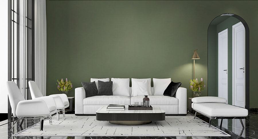 Schon die Wandfarbe ist ausschlaggebend für den Wohlfühlfaktor im Raum.
